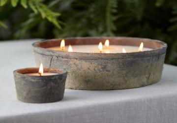 burning citronella candles